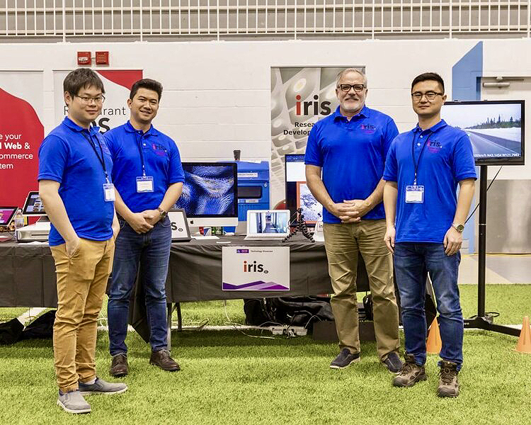 An image of the iris team at the IoT Driving Dreams showcase.